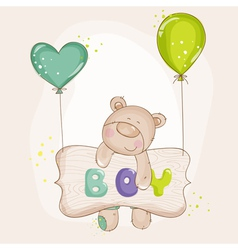 Baby bear with balloons - shower vector