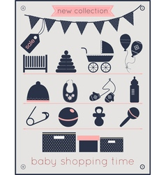 baby shopping time vector image