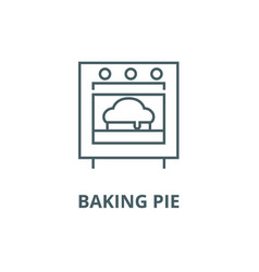 baking pie line icon baking pie outline vector image