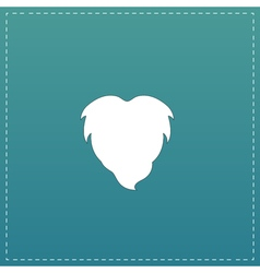 Beard flat icon vector image