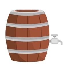 Beer wooden barrel icon vector