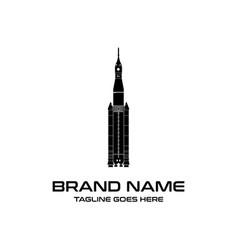 black rocket logo vector image