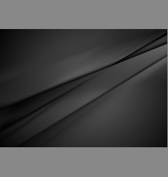 Black smooth stripes abstract minimal background vector