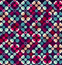 bright mosaic circle seamless pattern vector image