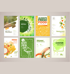 brochure and annual report templates vector image