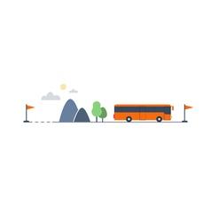 Bus transfer and transportation vector