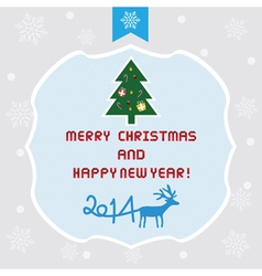 Christmas greeting card13 vector image