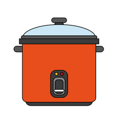 Color image cartoon rice electric cooker vector