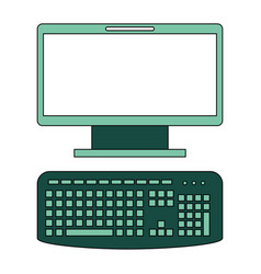 computer desktop isolated icon vector image