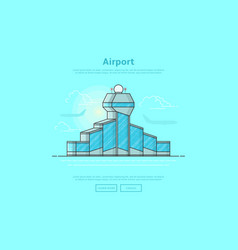 Concept of international airport vector