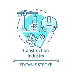 Construction industry concept icon building vector
