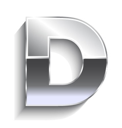 D metal font vector image