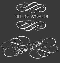 Decorative texts with swirls vector image