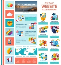 Digital Marketing Infographics vector