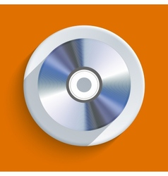 Disc icon on orange background Eps10 vector