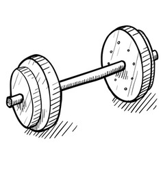 doodle exercise weights vector image
