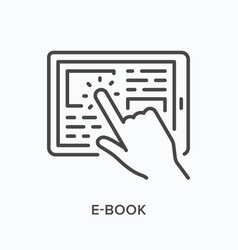 e-book line icon outline of vector image