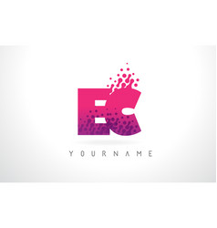 Ec e c letter logo with pink purple color and vector