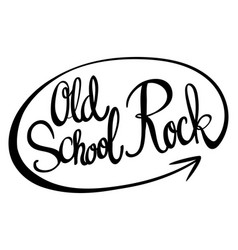 English phrase for old school rock vector