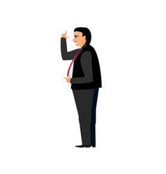fat boss businessman in suit and tie with a smile vector image