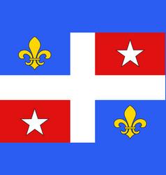 Flag corte in haute-corse department of vector