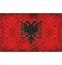 Flag of Albania - mosaic vector image