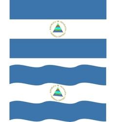 Flat and waving Nicaragua Flag vector image