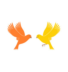 Flying canary vector