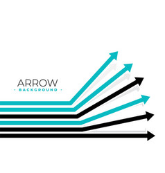 forward moving arrows background design vector image