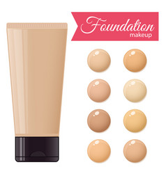 foundation cream vector image