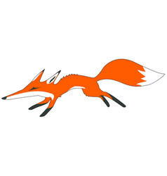 Fox running cartoon vector
