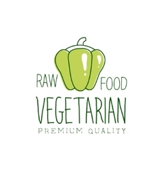 Fresh vegan food promotional sign with sweet vector