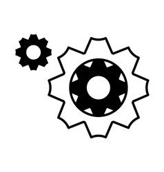 Gearwheel tool on white background vector