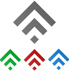 Geometric Square Logo Set vector