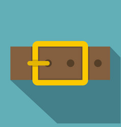 Gold square buckle icon flat style vector