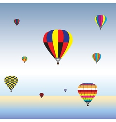 Hot Air Balloons in air vector image