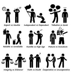 Human opposite behaviour positive vs negative vector