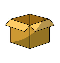 Isolated box icon vector