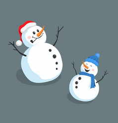 isolated image snowman christmas character vector image