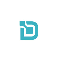 Letter d logo data design logo icon design temp vector