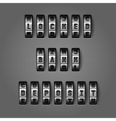 Locked bank deposit concept vector