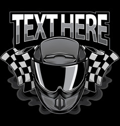 motorcycle helmet icon logo vector image