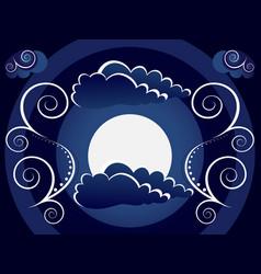 Mystic moon background vector