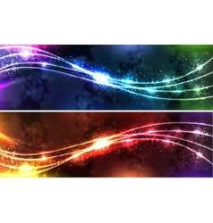 Neon wave Set vector