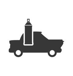 Paint splash repair car automobile design vector