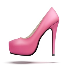 Pink vintage high heels pump shoes vector image