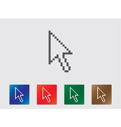 Pixel arrow icons vector