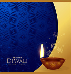 Premium diwali greeting background with vector