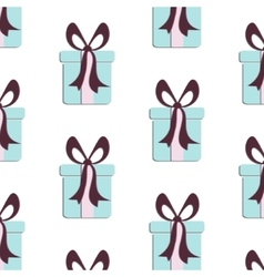 Present pattern Cute paper print with gift vector