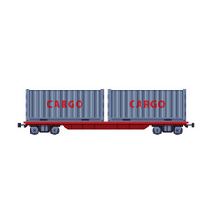 railroad shipping container rail freight vector image